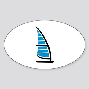 Windsurfing Sticker (Oval)